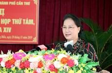 Anuncia máxima legisladora de Vietnam resultado del octavo período de sesiones parlamentarias al electorado