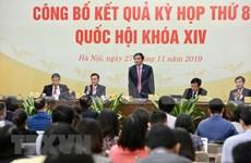 Parlamento de Vietnam adopta cambios cruciales durante octavo período de sesiones