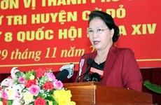 Presidenta del Parlamento vietnamita se reúne con los votantes en Can Tho