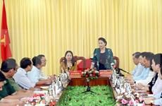 Realiza máxima legisladora vietnamita visita de trabajo a provincia de An Giang
