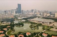 Estudian en Vietnam futuro urbano en Asia
