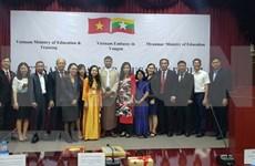 Promueven Vietnam y Myanmar cooperación en educación
