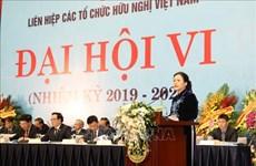Inauguran VI Congreso Nacional de la Unión de Organizaciones de Amistad de Vietnam