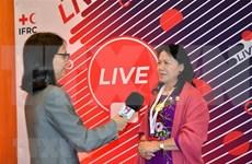 Destacan importante papel de la Cruz Roja de Vietnam en actividades humanitarias