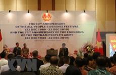 Amplia participación en conmemoración de fundación del Ejército Popular de Vietnam en Indonesia