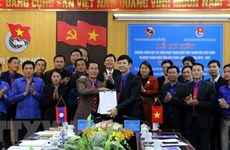 Estrechan cooperación entre uniones de jóvenes de Vietnam y Laos