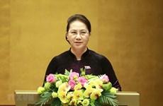 Presidenta del Parlamento de Vietnam y autoridades de Belarús debatirán pautas de cooperación
