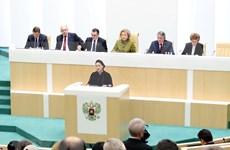Presidenta de Vietnam asiste a sesión plenaria del Consejo de Federación de Rusia