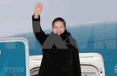 Inicia presidenta de Asamblea Nacional de Vietnam visita oficial a Belarús