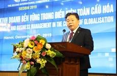 Debaten en Vietnam sobre desarrollo económico y negocios sostenibles