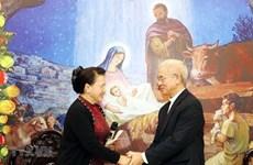 Aprecia máxima legisladora de Vietnam aportes del Comité de Solidaridad Católica