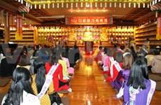 Festejan seguidores budistas vietnamitas en Corea del Sur el Año Nuevo Lunar