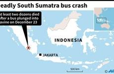 Al menos 24 muertos en accidente de autobús en Indonesia