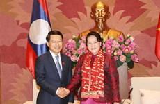 Presidenta del Parlamento vietnamita recibe al canciller laosiano