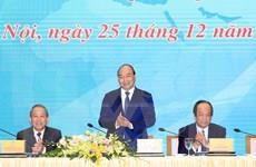 Premier de Vietnam participa en conferencia de balance de Oficina gubernamental