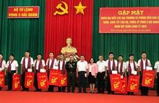 Visitan y entregan obsequios a cuadros y soldados en el mar del sudoeste de Vietnam en ocasión de Tet 2020