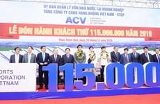 Recibe sector de aviación vietnamita al pasajero número 115 millones en 2019