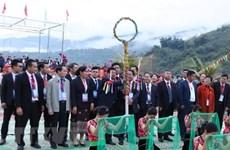 Nutrida participación en Festival tradicional de distritos fronterizos de Vietnam, Laos y China