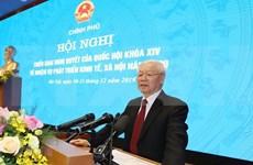 Máximo dirigente de Vietnam exhorta a mayores esfuerzos para mejores hazañas en 2020