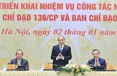 Premier de Vietnam exige mejor desempeño para reforzar en 2020 lucha contra delincuencia