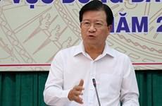 Insta vicepremier de Vietnam a buscar soluciones a largo plazo para sequía y salinización