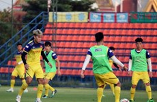 Realiza selección sub23 de fútbol vietnamita partido de práctica antes del Campeonato Asiático 2020