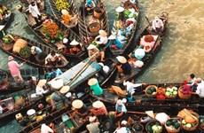 Prensa extranjera presenta mercados flotantes en delta del río Mekong en Vietnam