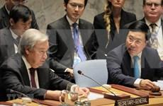 Secretario general de la ONU aprecia prestigio de Vietnam en comunidad internacional