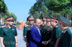 Visita premier de Vietnam Zona Militar 9