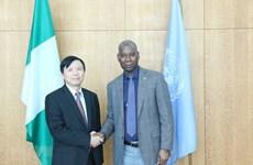 Embajador vietnamita se reúne con presidente de la Asamblea General de ONU