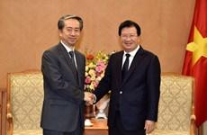 Viceprimer ministro de Vietnam recibe a embajador chino