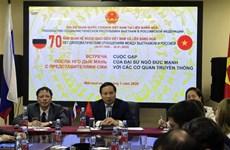Conmemoran 70 aniversario de relaciones diplomáticas Vietnam-Rusia