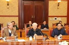 Exhorta máximo dirigente partidista de Vietnam a continuar tareas socioeconómicas después del Tet