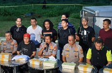 Incautan en Indonesia casi 300 kilogramos de metanfetamina