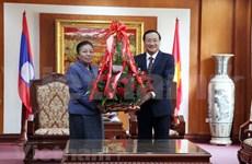 Alaba dirigente del Partido Popular Revolucionario de Laos logros del pueblo vietnamita