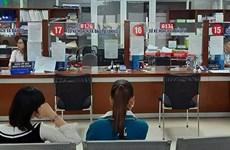 Ciudad vietnamita prueba máquina dispensadora automática de documentos administrativos