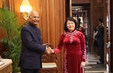 Vicepresidenta de Vietnam se entrevista con presidente de la India