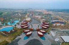 Atractivo escenario del complejo Vinpearl Land Nam Hoi An en Vietnam