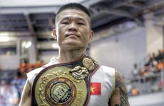 Conquista boxeador vietnamita cinturón de peso supermediano en campeonato asiático