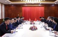 Vicepremier vietnamita se reúne con cancilleres de China y Laos en Vientiane
