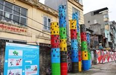 """Convierten """"basureros"""" de Hanoi en espacios artísticos"""