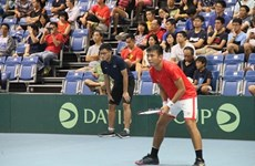 Participa la selección de tenis vietnamita en ronda de play-off de la Copa Davis