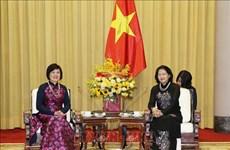 Elogia vicepresidenta de Vietnam actividades del Grupo de Mujeres de Comunidad de ASEAN