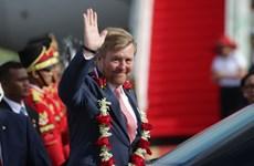 Presidente de Indonesia recibe al rey de Países Bajos