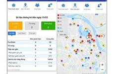 Monitoreo de cuarentena por coronavirus a través de aplicación Hanoi Smart City