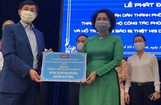 Ciudad Ho Chi Minh apoya con más de tres millones de dólares lucha contra COVID-19 y sequía