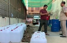 Confisca Camboya alcohol falso destinado para líquido antiséptico contra COVID-19