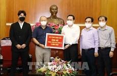Entrenador de fútbol Park Hang Seo contribuye a la lucha contra coronavirus en Vietnam