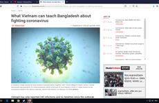 Prensa bangladesí destaca modelo de Vietnam para contener al COVID-19