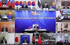 ASEAN y socios discuten medidas específicas contra COVID-19